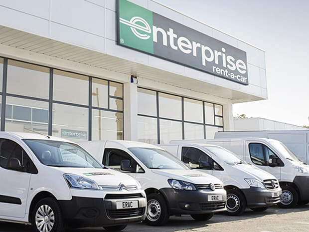 Row of hire vans
