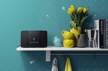 EE hub on a shelf
