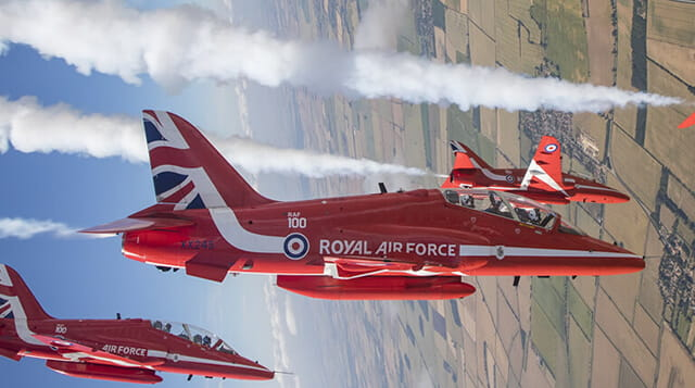 red arrows in the sky