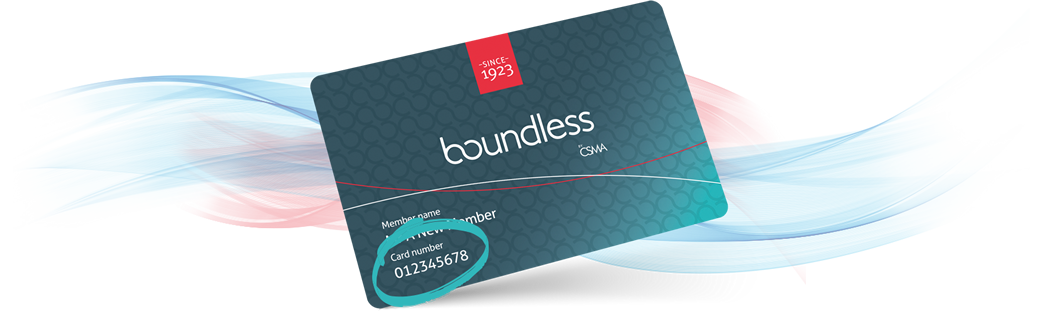 Boundless membership card