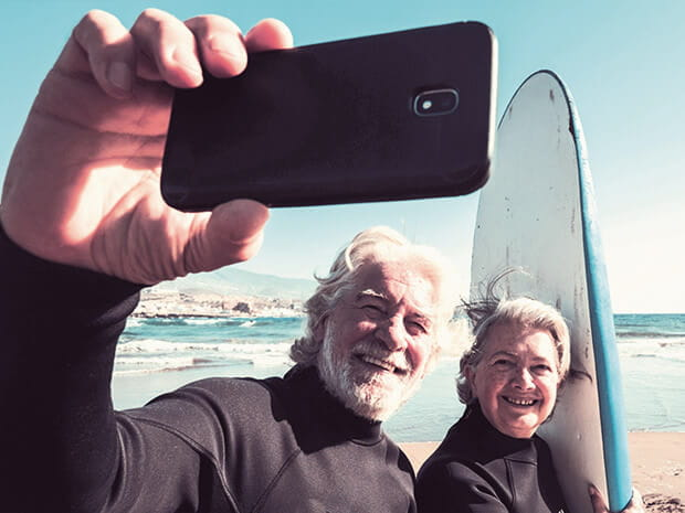 Couple of old surfers