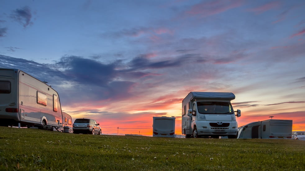 Camping & Caravanning sunset