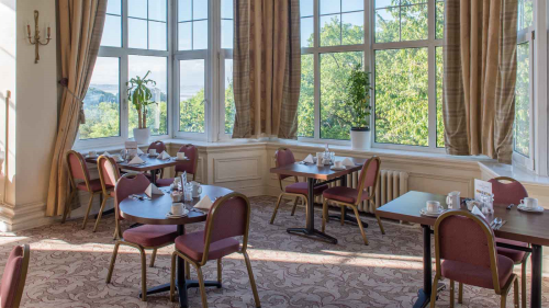 Dining room in the Cumbria Grand Hotel