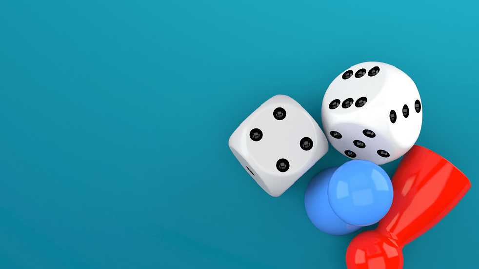 Games - blue background