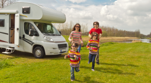 Motorhome and family