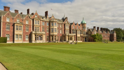 Sandringham House lawns