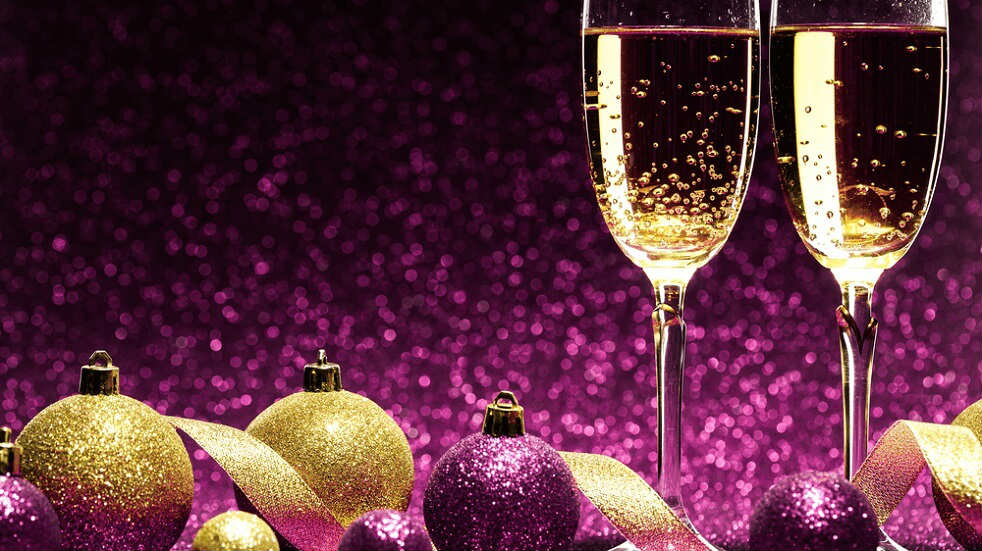 christmas party in purple 1