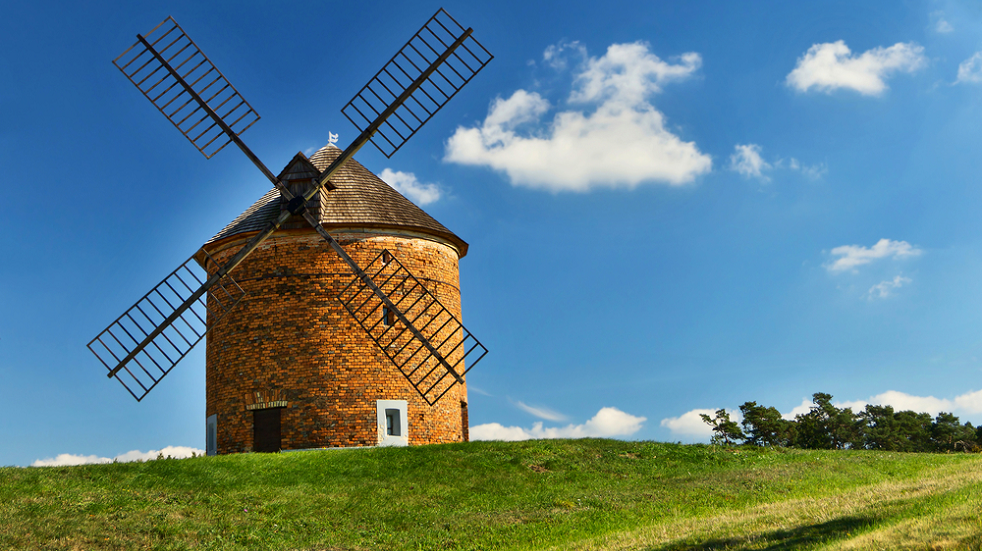 windmill in Somerset