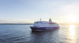 DFDS Ferry at sea