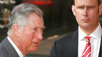 Prince Charles with bodyguard