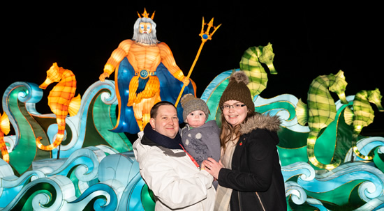 King neptune light display