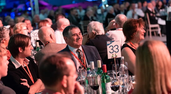Table of guests at the Vulcan event