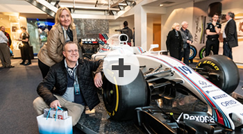 Williams car and couple