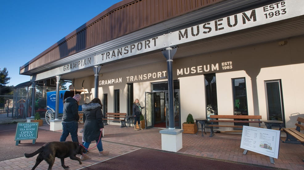 Grampian Transport Museum front entrance