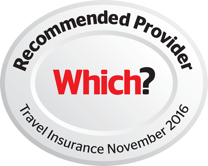 Recommended provider Which? Travel Insurance November 2016
