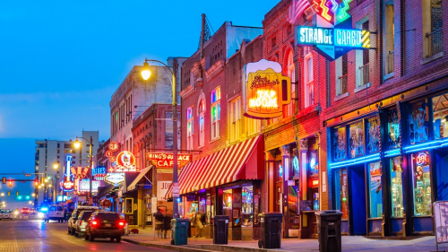 America - Memphis - Beale Street Music District in Memphis Tennessee USA