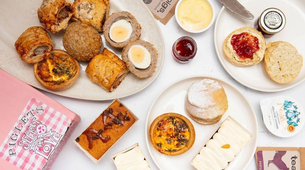An afternoon tea from Piglets Pantry