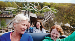 People having fun at Efteling park