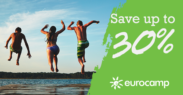 Save up to 30% at Eurocamp