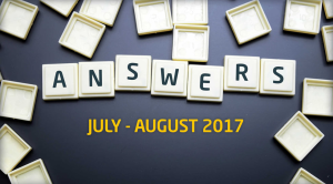 Answers - July - August 2017