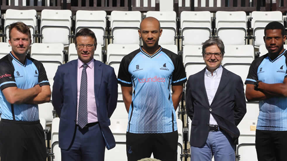 Sussex Sharks - Boundless shirt sponsorship