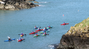 Sea kayaking adventure for two