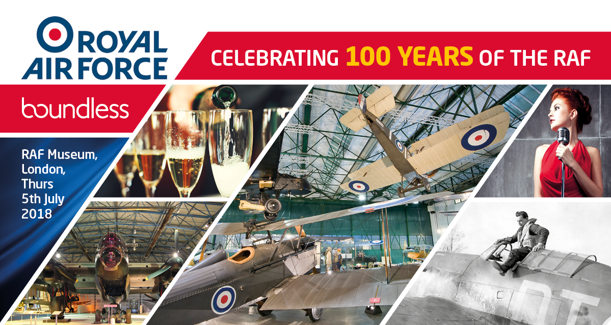 Boundless RAF centenary event RAF museum London July 2018
