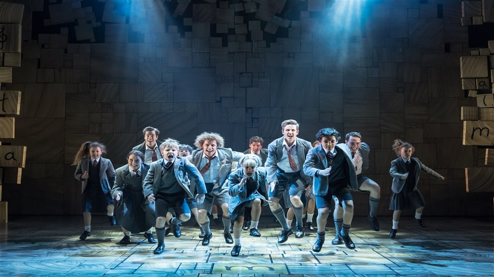 Matilda live at the Cambridge Theatre in London