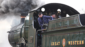 Driving a steam train