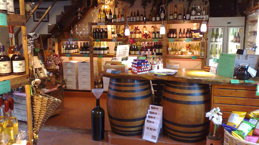 Wine and beer in shop
