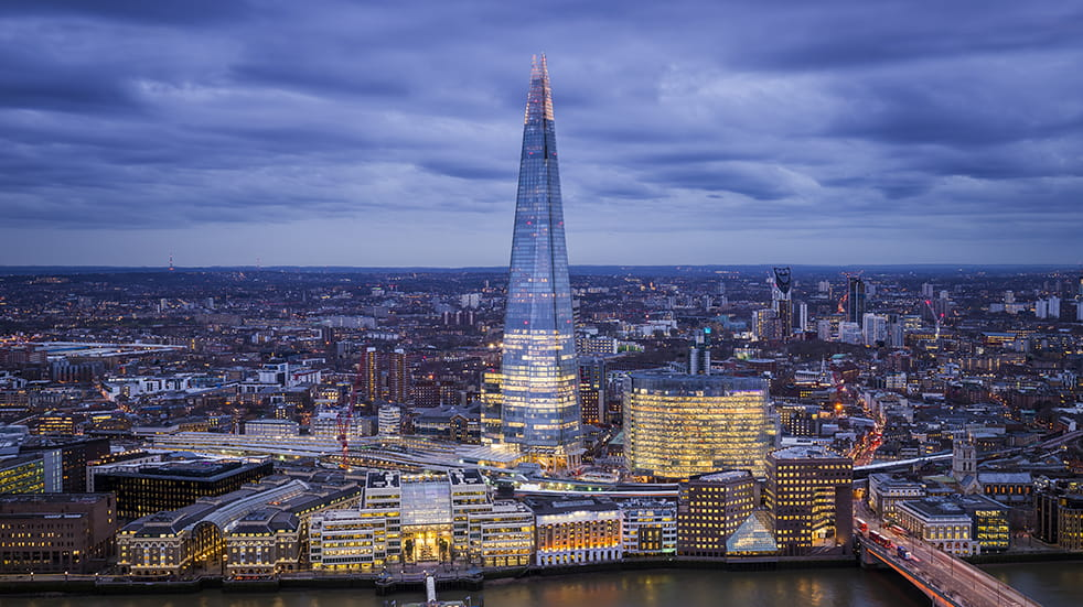 The Shard and view of surrounding landscape