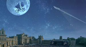ET & Superman over Blenheim Palace