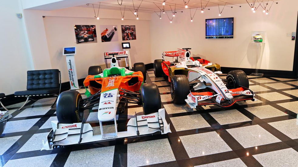 F1 cars at the Sahara Force India Factory
