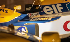 Side view of F1 car showing Elf logo
