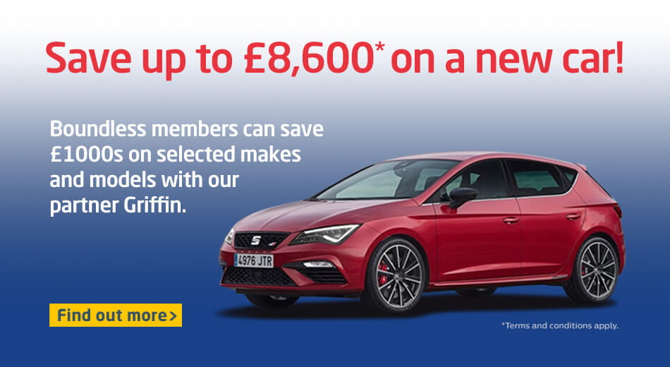 Save up to £8,600* on a new car!