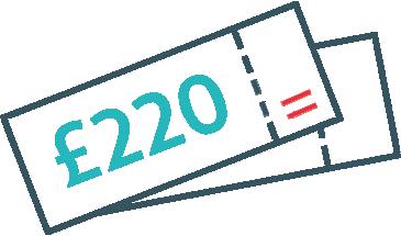 £220 in vouchers
